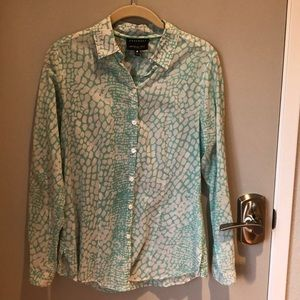 Foxcroft Wrinkle Free Fitted Fit Blouse